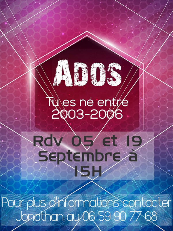 Inscription au groupe d'ados